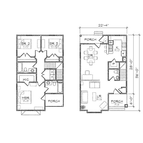 narrow home floor plans ii floor plan tightlines designs