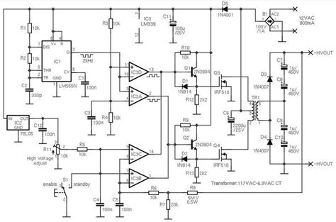 Adjustable High Voltage Power Supply