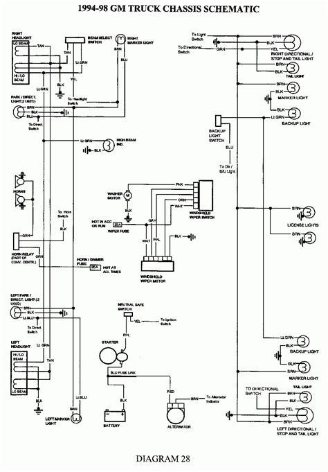 Light Switch Diagram Gm by 1998 Chevy Silverado Brake Light Switch Wiring Diagram