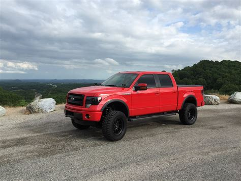 ford  fx super crew  red lifted   sale