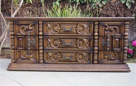 70's Mediterranean Rococo Style Dresser & Chest By