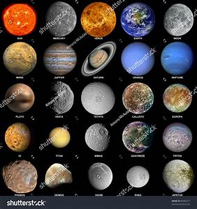 Royalty-free All of the planets that make up the ...
