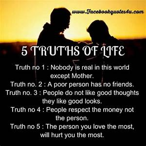 35 Famous Truth Of Life Quotes, Sayings & Pictures | Picsmine