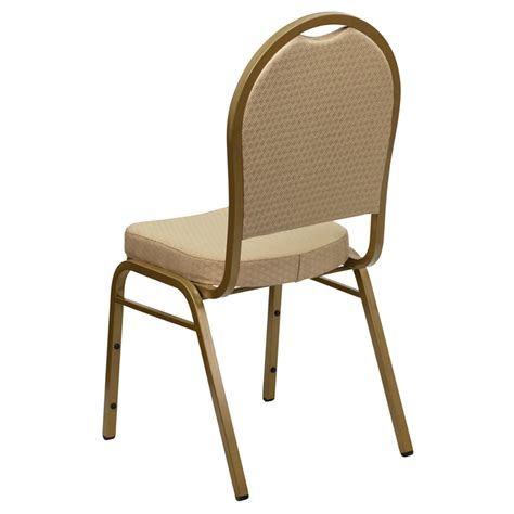 hercules series dome back stacking banquet chair in beige