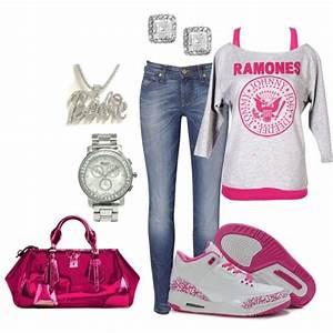 U0026quot;Pink Jordansu0026quot; by lovenorchids on Polyvore | outfits u2661u2665u2661u2665 | Pinterest