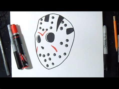 disegnare maschera jason graffiti youtube