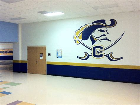 cuthbertson middle school logo mural photos in