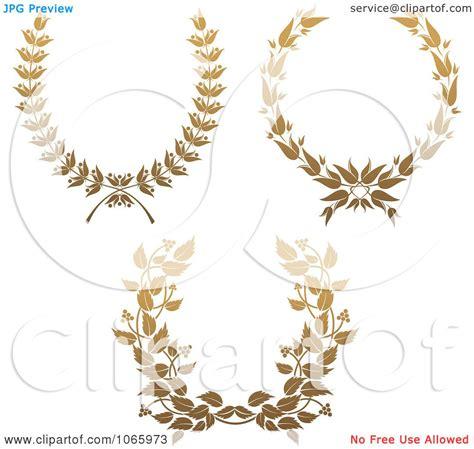 clipart gold laurel wreaths  royalty  vector illustration  vector tradition sm