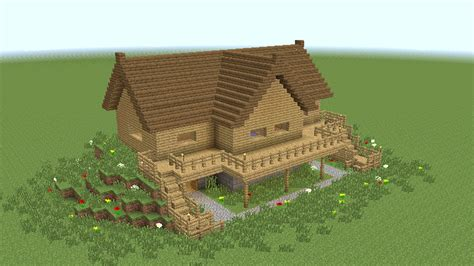Wooden House In Minecraft - minecraft how to build wooden mansion