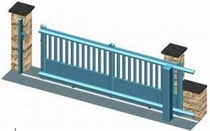 Portail Coulissant Sur Rail : rail guidage portail coulissant electrique tableau ~ Edinachiropracticcenter.com Idées de Décoration
