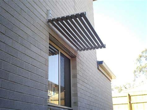 aluminium powdercoated window awning  slats  woodland grey ideas   house