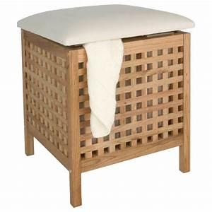 Wäschekorb Mit Sitzfläche : badhocker mit sitzkissen walnuss w schetruhe w schekorb badezimmer w schehocker ebay ~ Watch28wear.com Haus und Dekorationen