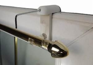 Rideau Fenetre Aluminium : support tringle rideau pour fenetre pvc sans percer ~ Premium-room.com Idées de Décoration