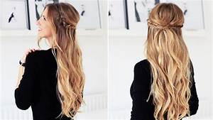 Fishtail Braid Half Updo For Short, Medium, and Long Hair Luxy Hair YouTube