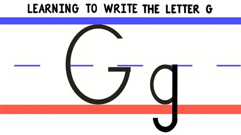 Write the Letter G - ABC Writing for Kids - Alphabet ...