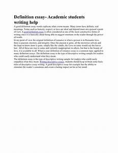 Good definition essays wisconsin institute creative writing