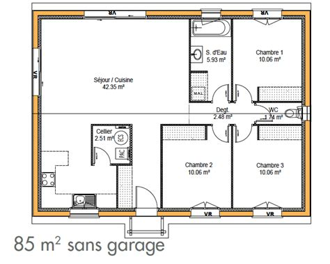 plan de maison 2 chambres cuisine construction de maison simple immo construction