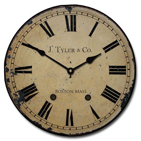 large numeral wall clocks distressed wall clock