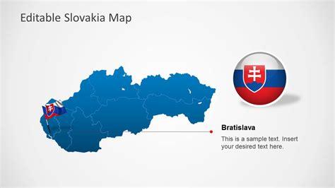 editable slovakia map template  powerpoint slidemodel