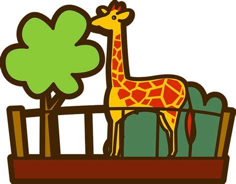 zoo clipart giraffe animal transparent creazilla
