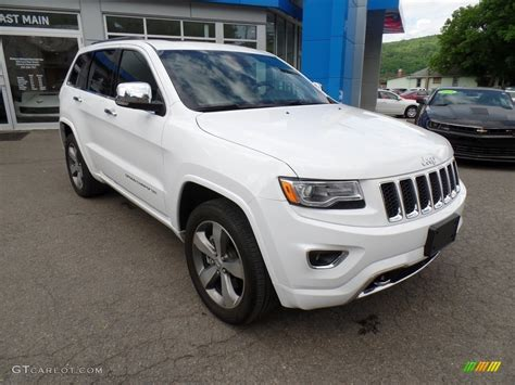 white jeep 2016 2016 bright white jeep grand cherokee overland 4x4