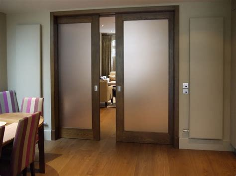 Maple Kitchen Ideas - frosted glass pocket doors for your house seeur