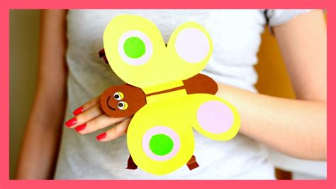 butterfly hand puppet template paper butterfly hand puppet craft template paper crafts