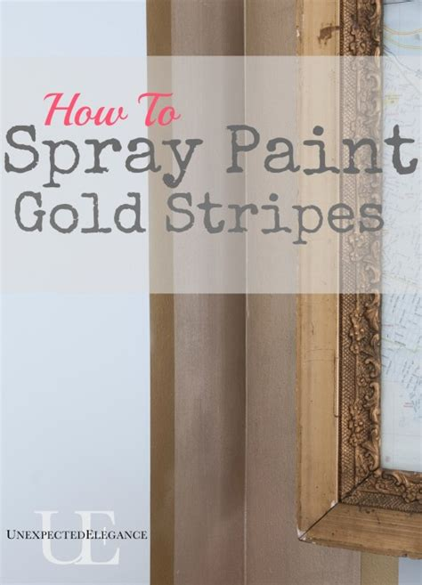 How To Spray Paint Gold Stripes  Unexpected Elegance