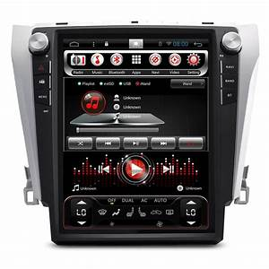 12 1 U0026quot  Tesla Vertical Screen Android Autoradio Head Unit Car Stereo Gps For Toyota Camry V55 2014