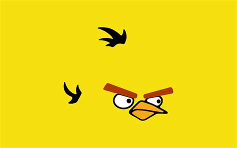 video games angry birds yellow bird yellow background