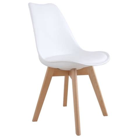 chaise blanche pied bois chaise blanche pied en bois chaise design eames inspired