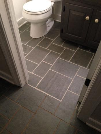 making  discolored grout    grey tile