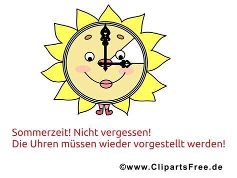 zeitumstellung sommer bild clipart image illustration