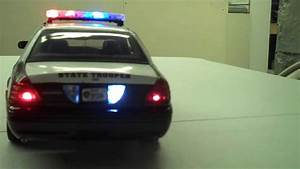 1  18 Scale Texas Dps State Police Crown Victoria With Flashing Led Lightbar  Lights  And Siren