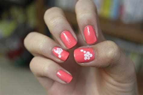 easy nail design flower nail designs acrylic nail designs