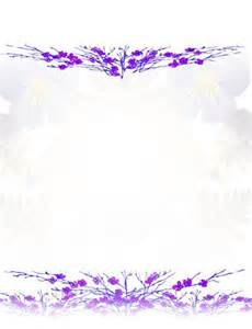 Purple Flower Page Border