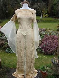 gold eowyn bespoke fairy lotr renaissance medieval pagan With wiccan wedding dress