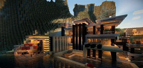 luxurious cove house    minecraft
