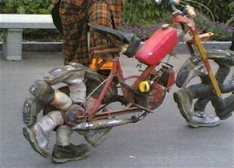 Weird Boot Wheels Motorcycle