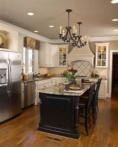 white kitchen black island traditional kitchen other With kitchen colors with white cabinets with pro life stickers