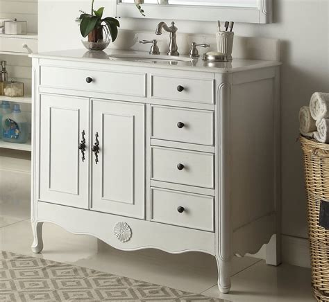 Like Bathroom Vanities by 38 Quot Benton Collection Distressed White Daleville Bathroom