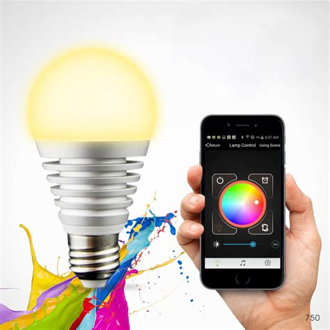 lighting from smartphone aliexpress com buy bluetooth led rgb smart light e27 bulb smartphone controlled dimmable color