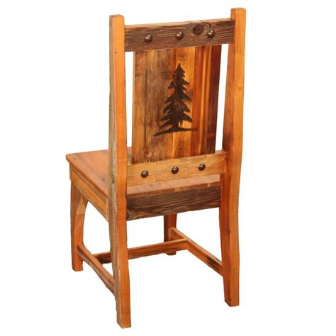 country kitchen furniture side chair country rustic wood log cabin kitchen