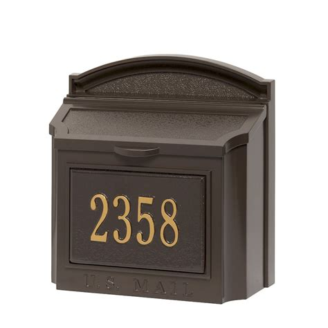 wall mount mailbox whitehall products custom wall mount mailbox with 4612