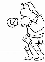 Boxing Coloring Pages Boxer Clipart Cartoon Rocky Balboa Cliparts Clip Library Popular Template sketch template