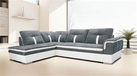 canape relax angle canape d 39 angle à gauche convertible galaxia blanc gris
