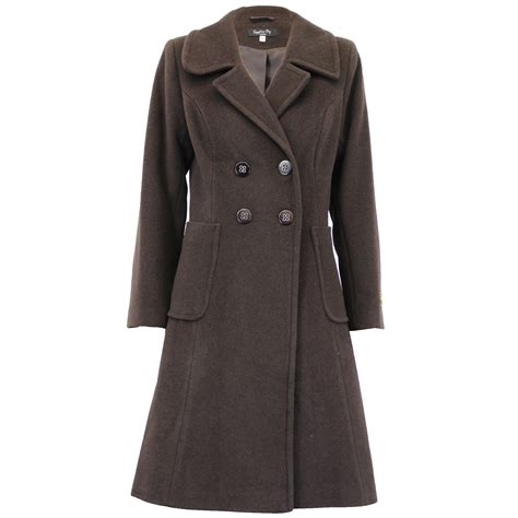 Ladies Wool Cashmere Coat Womens Jacket Double Breasted Outerwear Trench Winter | eBay