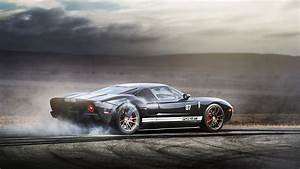 Supercar ford g-t burnout wallpaper 2380x1340 430114