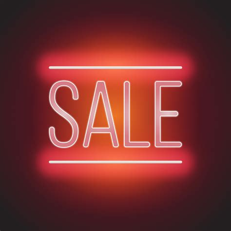 neon sale sign illustration free vector