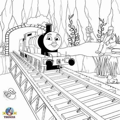 Thomas Coloring Friends Train Colour Bridge Engine